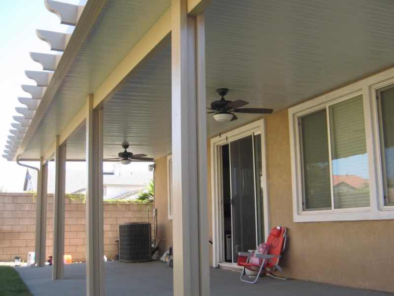 La Verne home with a new patio cover installed.