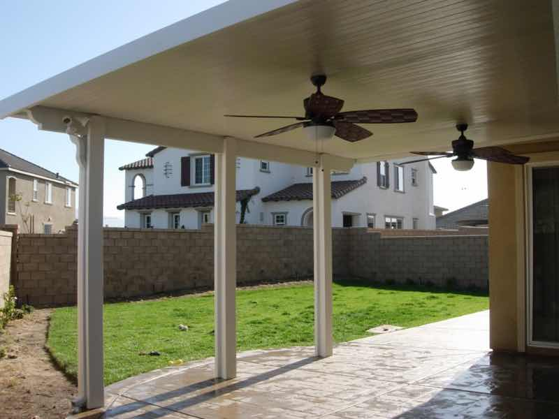 Mira Loma CA home with a new patio cover installed.