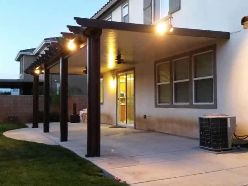 Montclair CA home with a new patio cover installed.