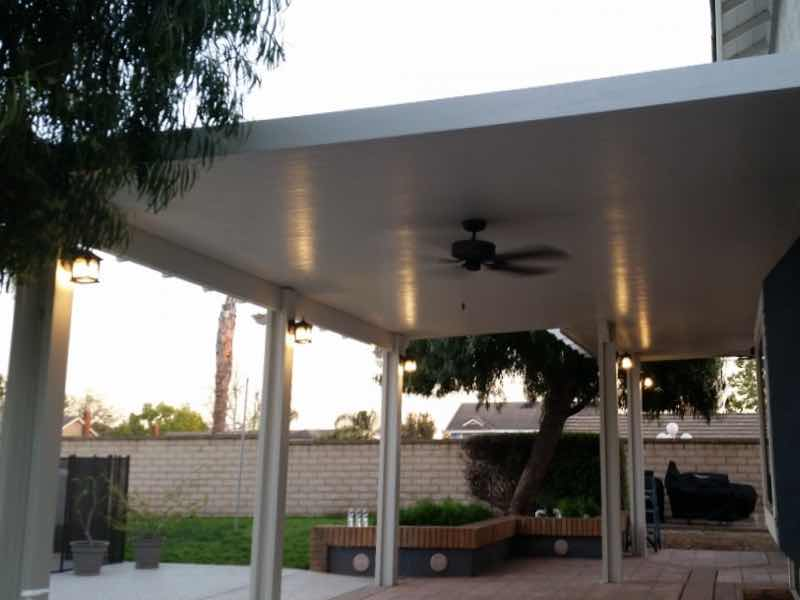 Rancho Cucamonga CA home with a new patio cover installed.