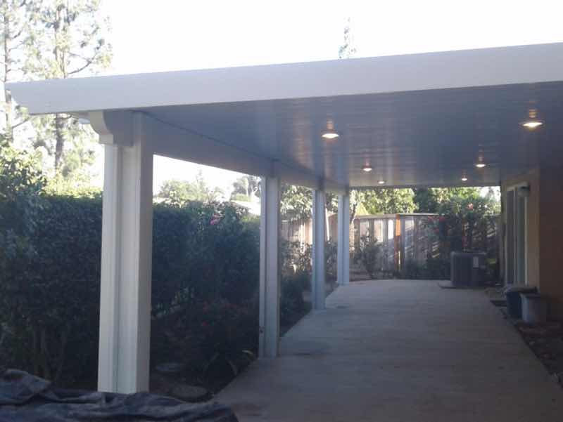 San Bernardino CA home with a new patio cover installed.