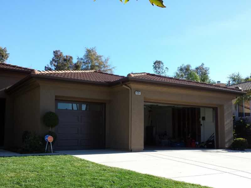 Rain gutter installed in Corona CA