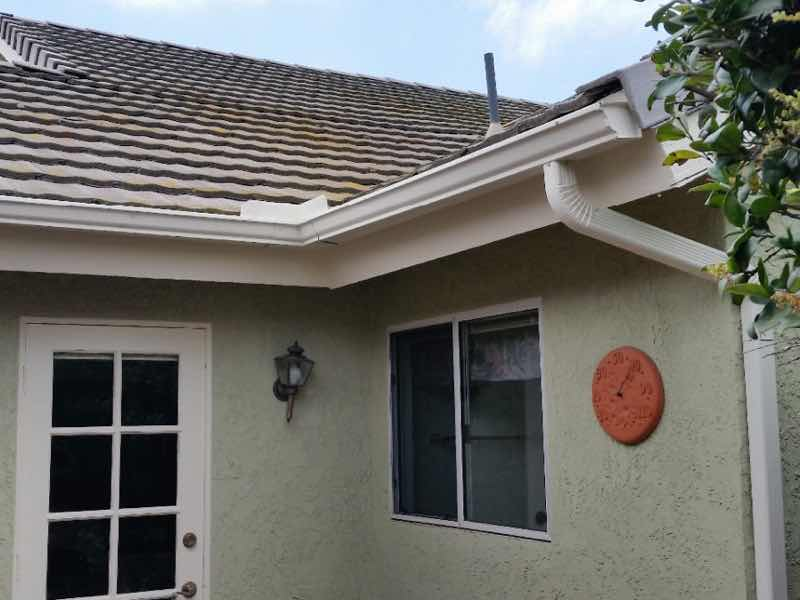 Anaheim Hills CA home with a new rain gutter installed.