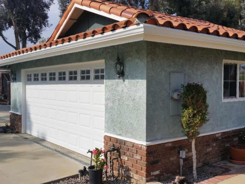 Rain gutter installed in Anaheim Hills CA