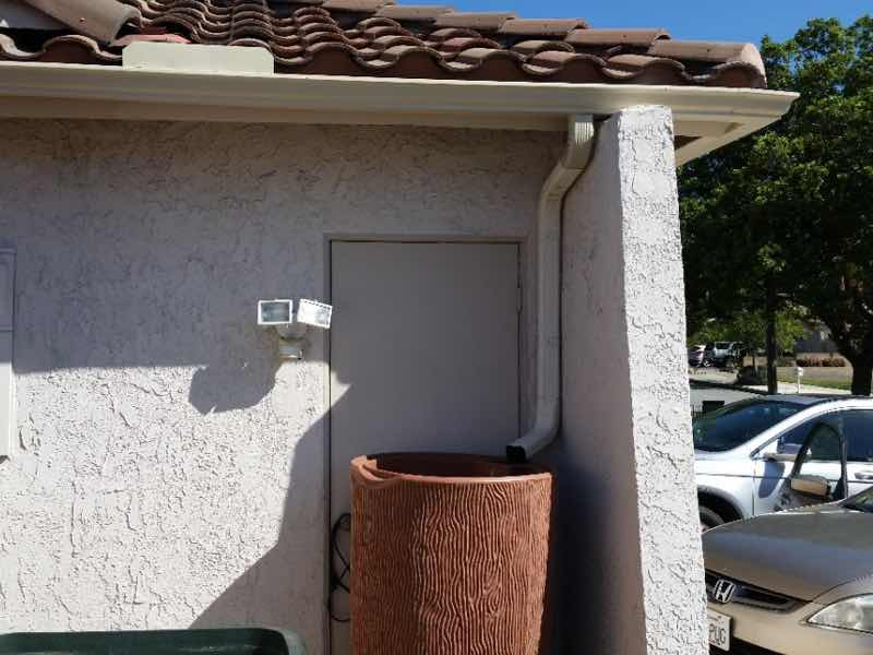 Chino Hills CA home with a new rain gutter installed.