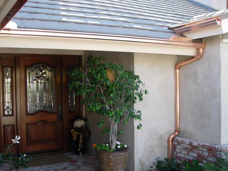 Rain gutter installed in Upland CA