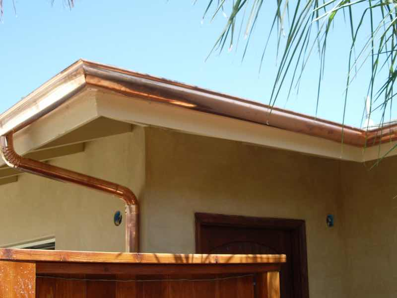 Claremont CA home with a new rain gutter installed.