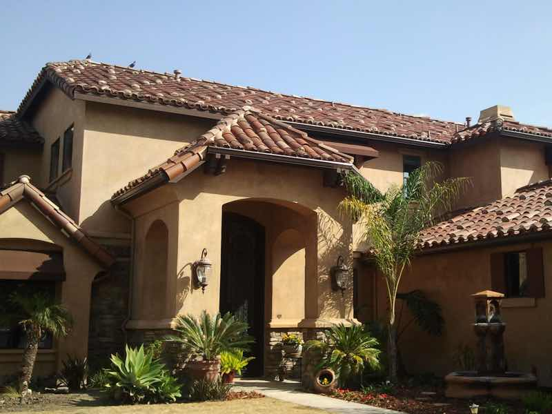 Seamless rain gutter installed in Montclair CA