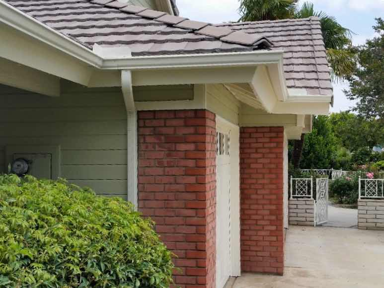 Rain gutter installed in Rancho Cucamonga CA