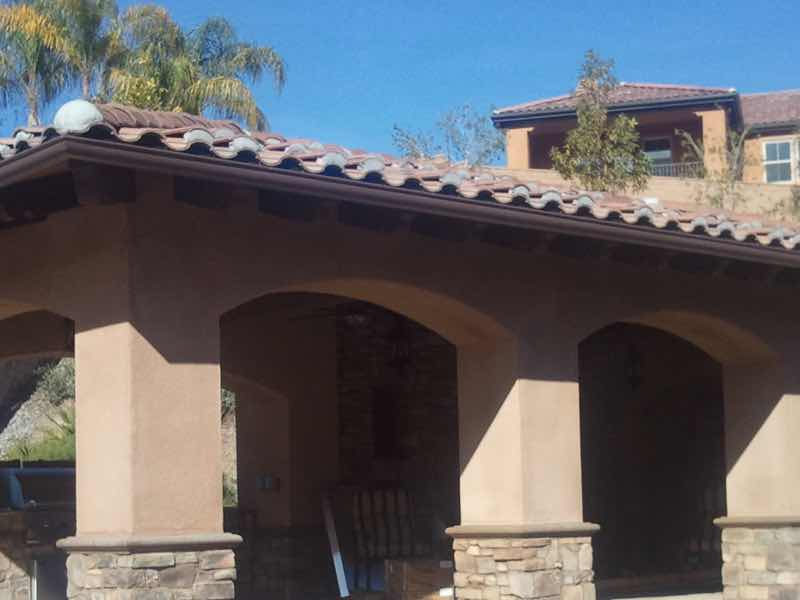 Seamless rain gutter installed in San Bernardino CA.