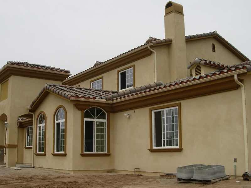 Rain gutter installed in San Bernardino CA.