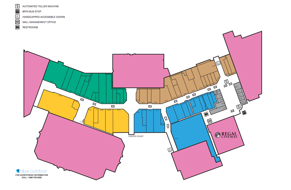 Map of the Berkshire Mall