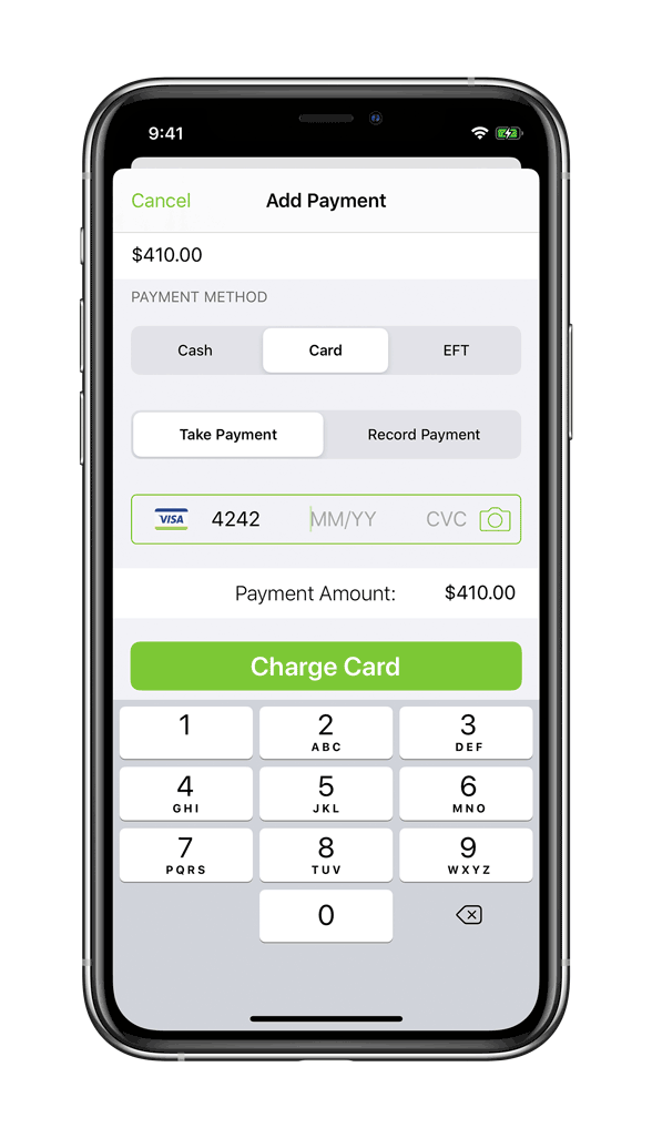 Taking card payment through ServiceM8