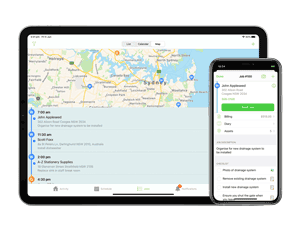 ServiceM8 on iPad and iPhone