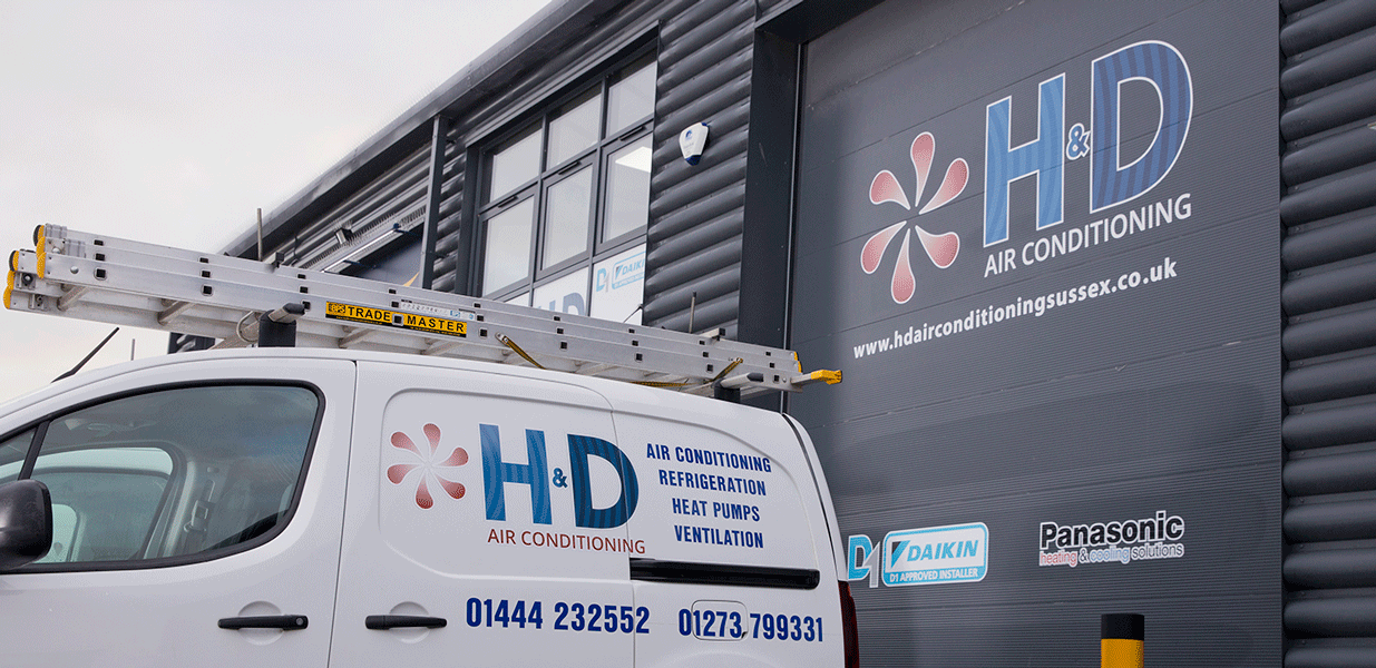 H&D Air Conditioning warehouse and vehicle