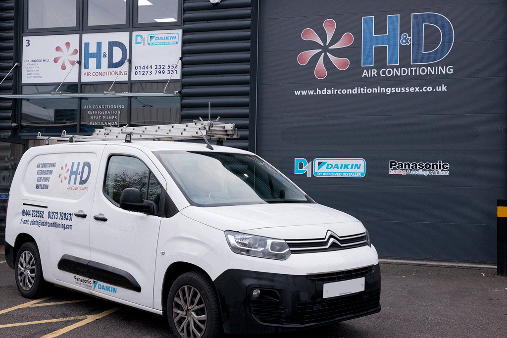 H&D Air Conditioning vehicle and warehouse