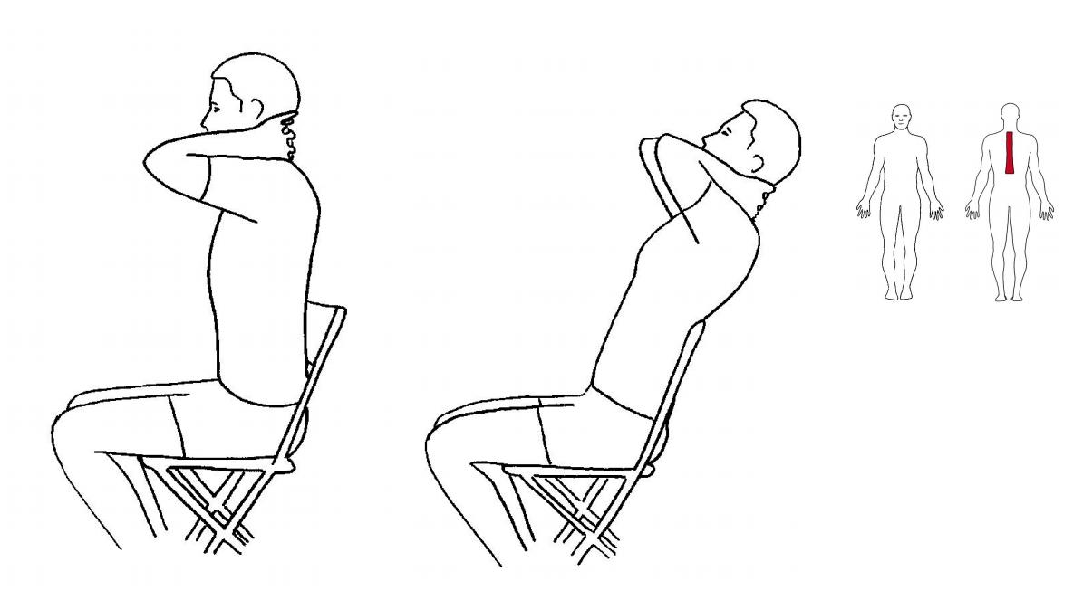 Mobilisering øvre del av rygg med stol