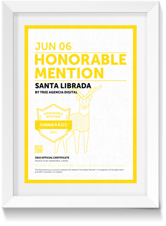 Honorable mention Awwards
