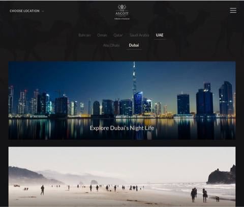 Ascott Hospitality Website