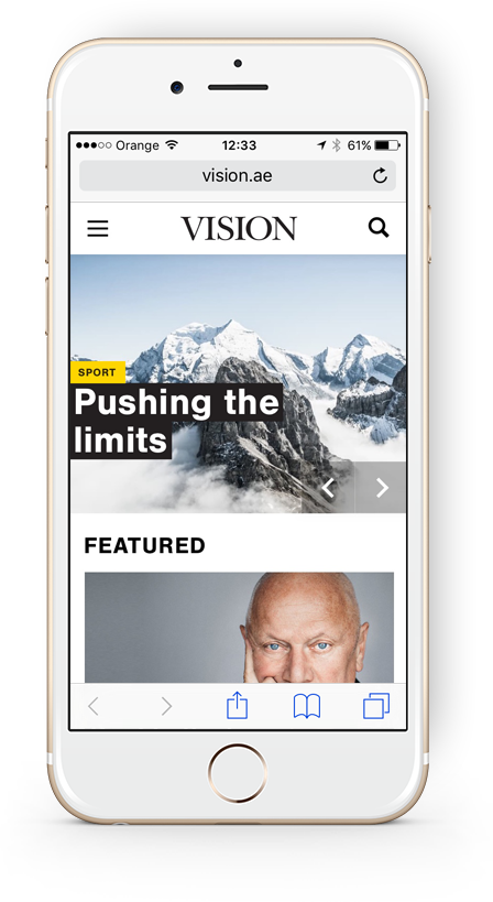 Vision Mobile Website