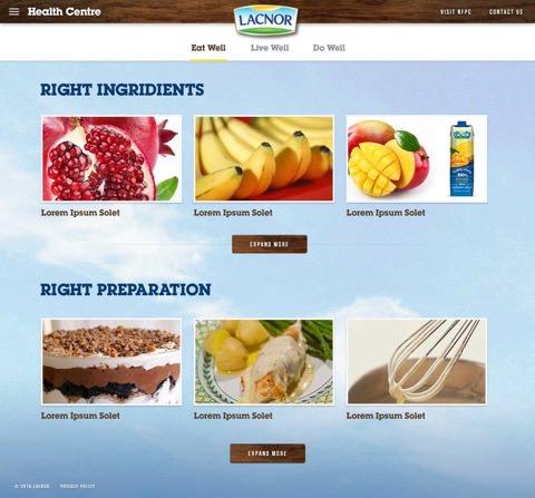 Lacnor website on desktop