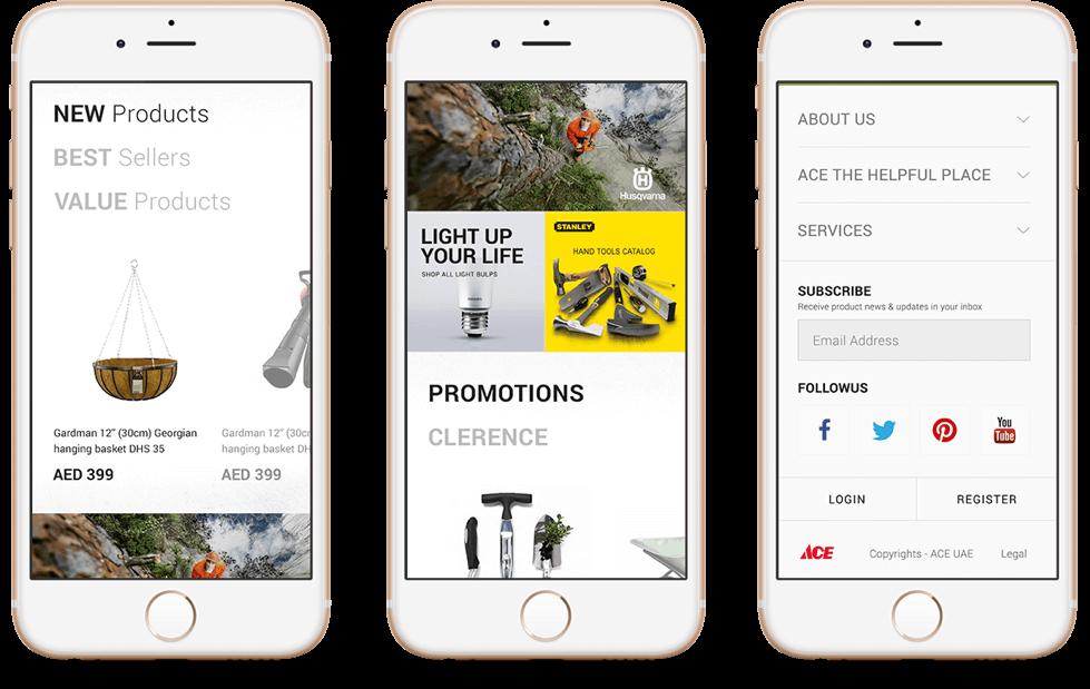 Ace Hardware Website on Mobile