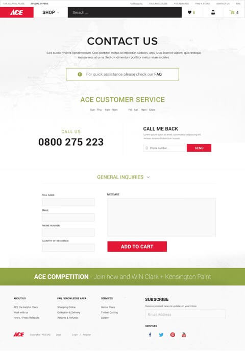 Ace Hardware Website