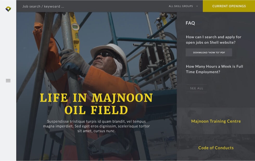 Majnoon Oil Field Website