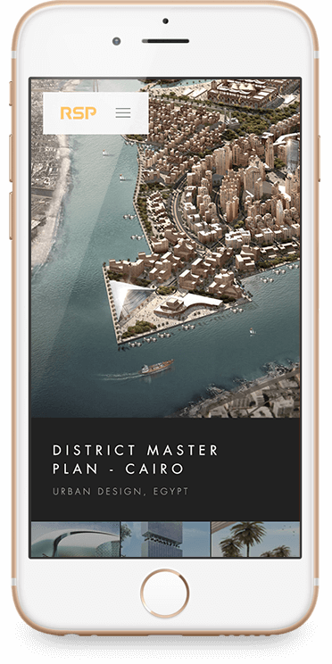 RSO Architects Website on mobile