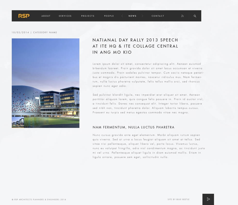 RSO Architects Website