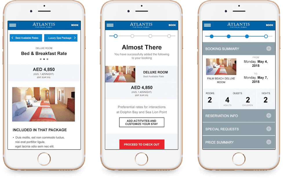 Atlantis Hotel Mobile Booking Engine