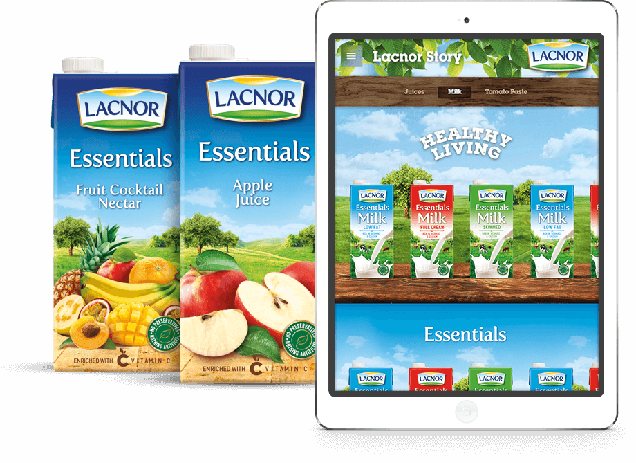 Lacnor website on Tablet