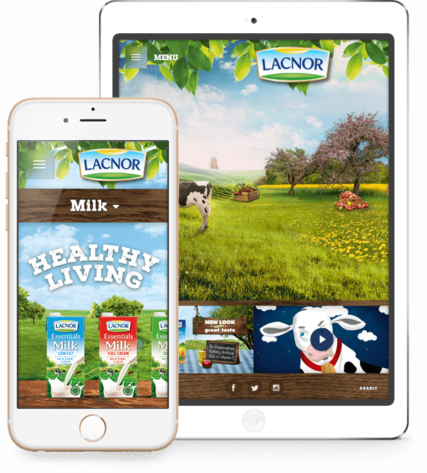 Lacnor Website on Phone and Tablet