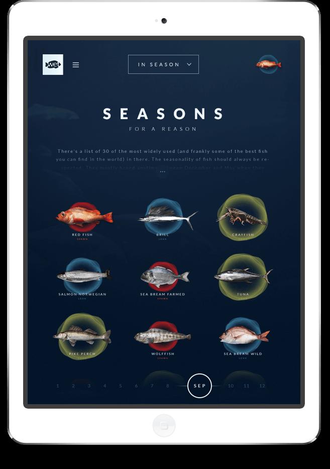 Wetfish website on tablet