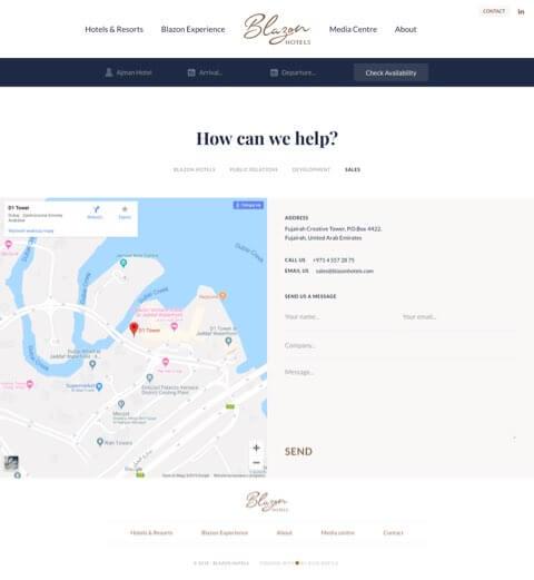 hotel website design and development