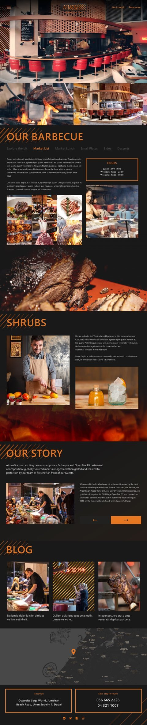 Dubai restaurant website design