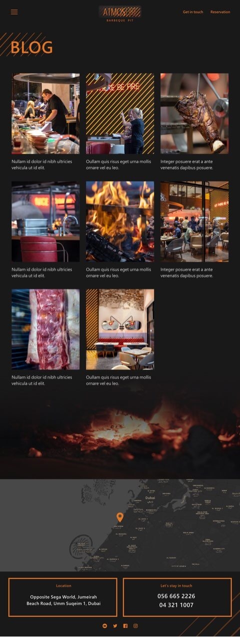 restaurant website design dubai