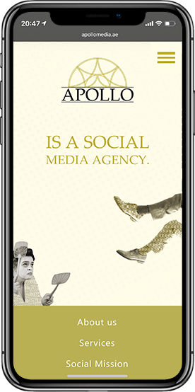 Social media agency website