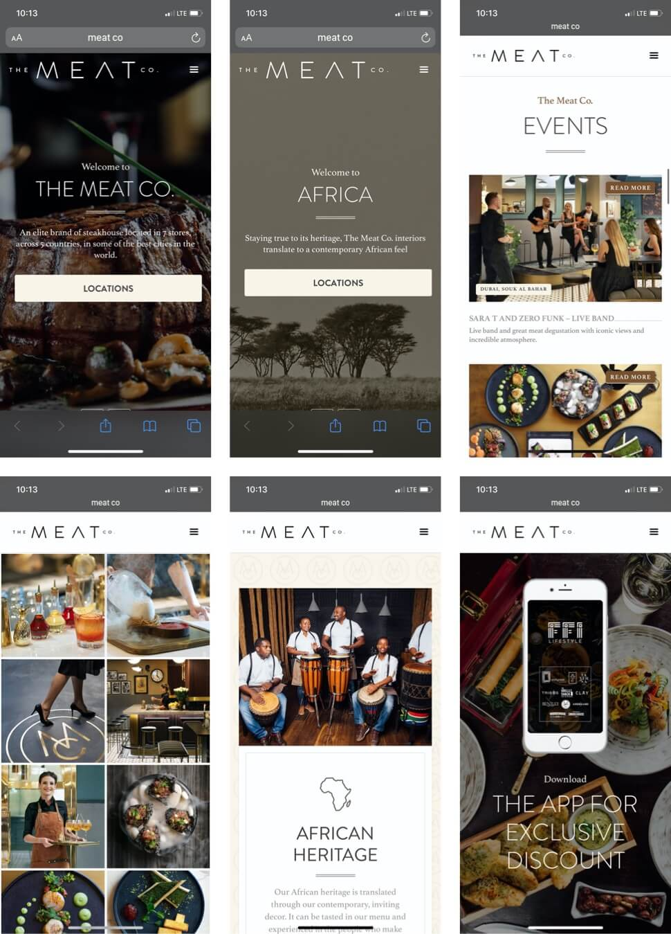 Restaurant mobile website design Dubai