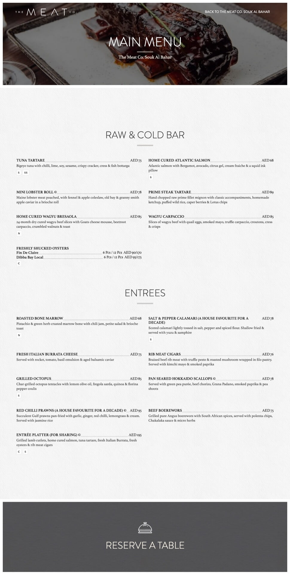 Restaurant menu design Dubai