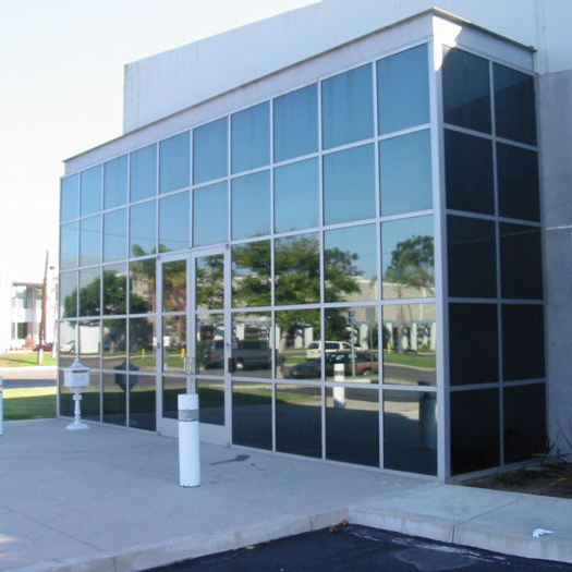 Commercial window film on a building in Kitchener Waterloo Ontario