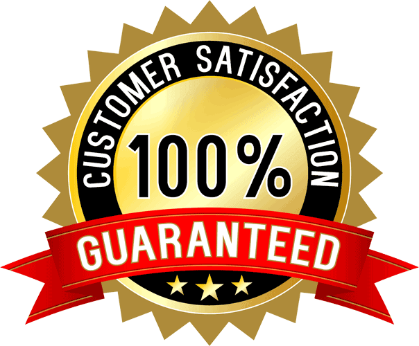 We proudly offer a 100% Satisfaction Guarantee.