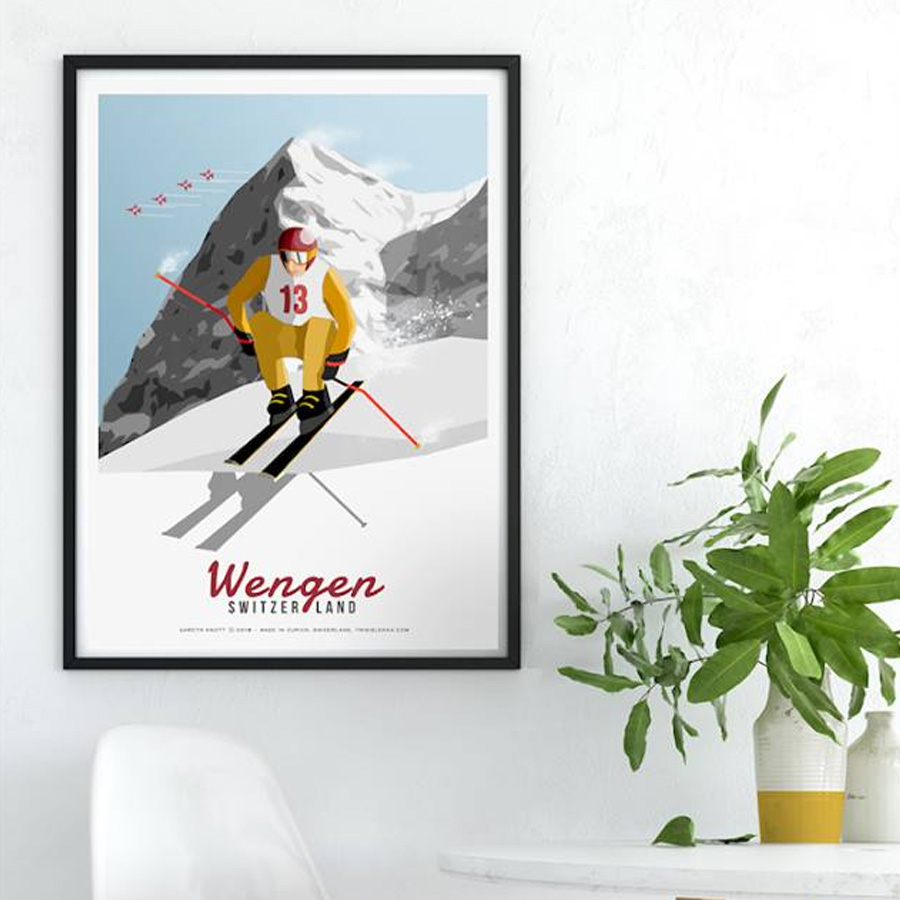 LEKKA framed poster Wengen on instagram