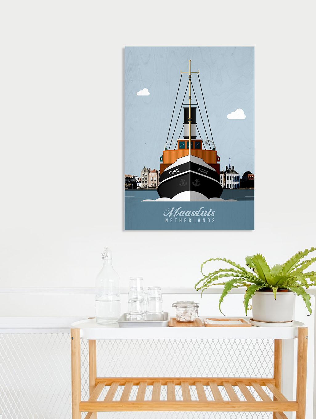 Dutch ship poster