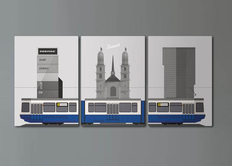 Zurich tram 3 set - image 1