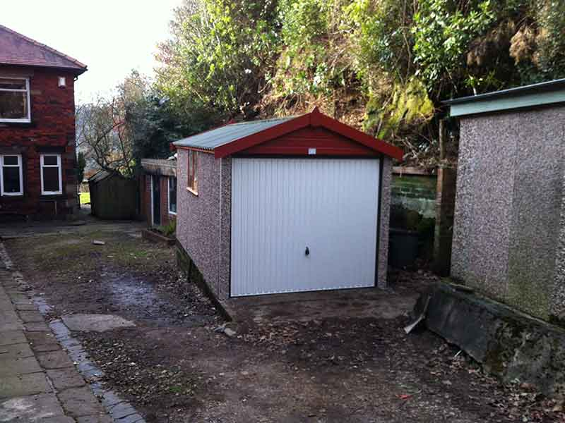 Concrete Garages in Knottingley