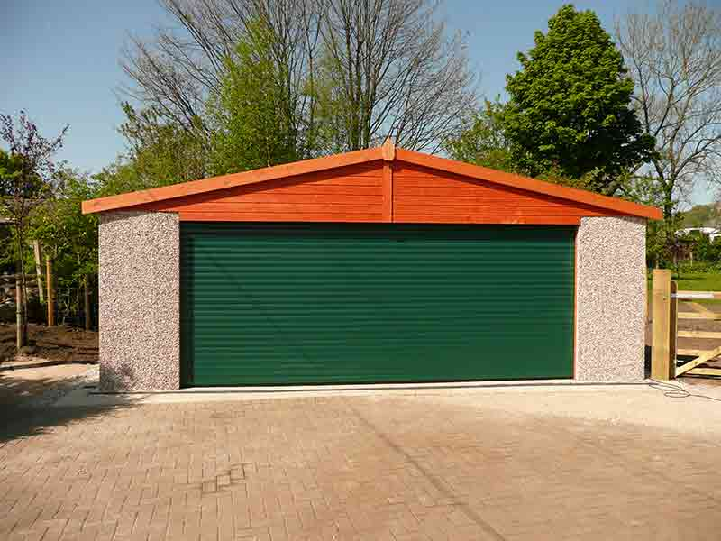 We supply and install concrete garages in Knottingley