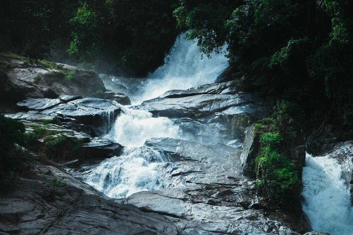 Photography of Waterfalls Near Trees