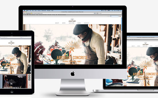 Abstrakt Concrete responsive website thumb