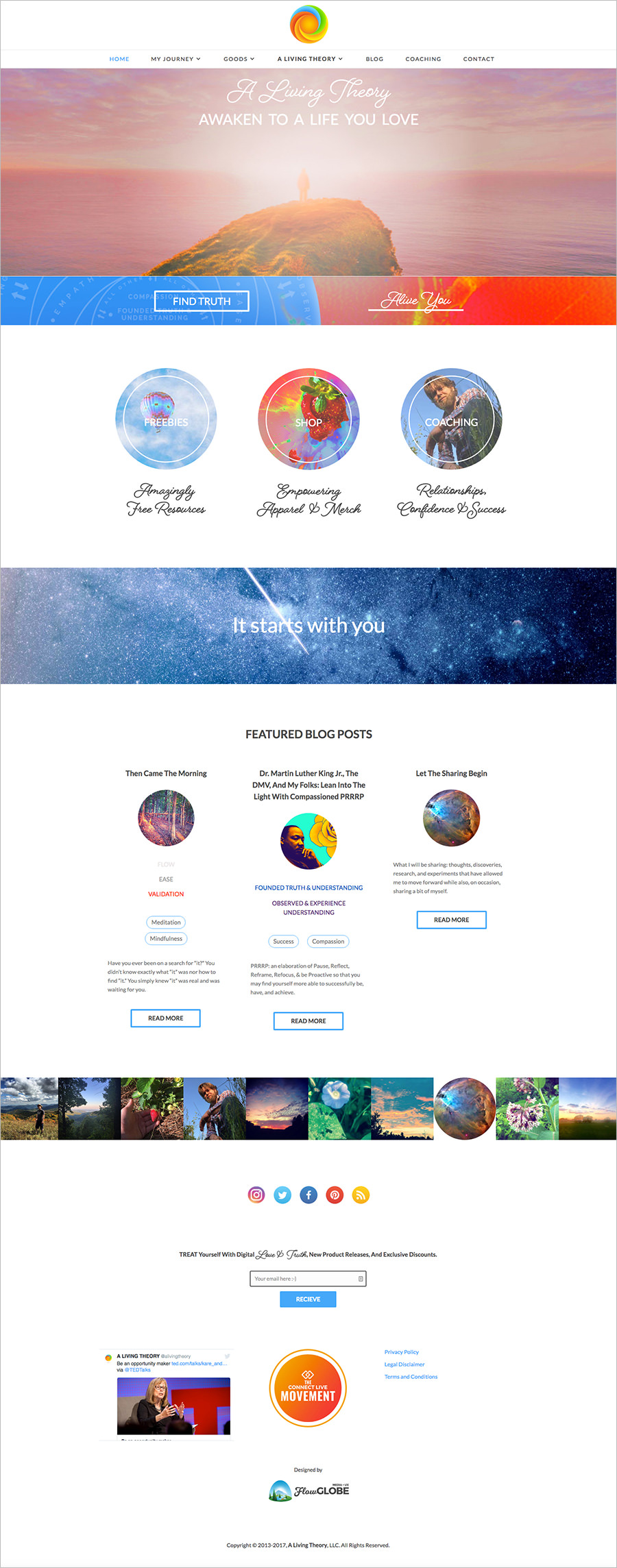A Living Theory website